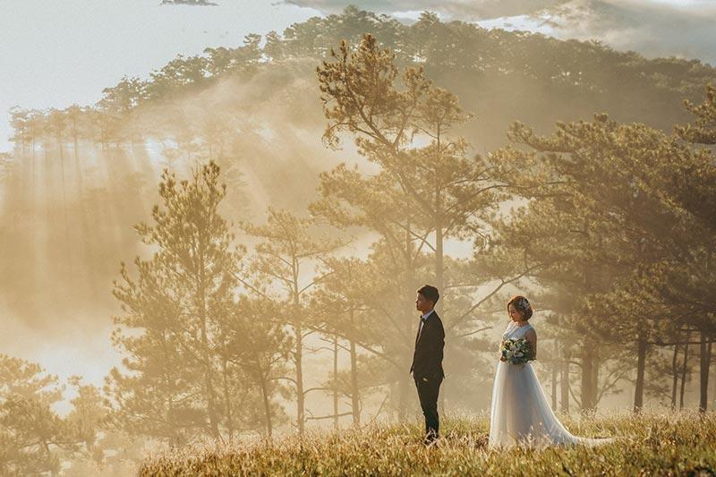 Chụp hình cưới hàng đầu tại Ròm studio Đà Lạt