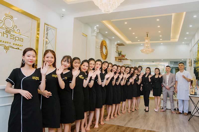 Đội ngũ nhân viên tại Xinh spa Center Nghệ An
