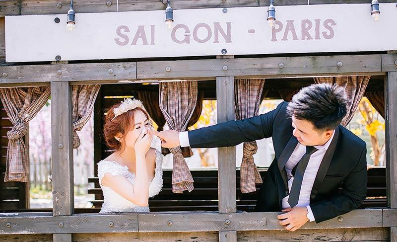 Gói ảnh cưới chất lượng tại áo cưới Saigonparis