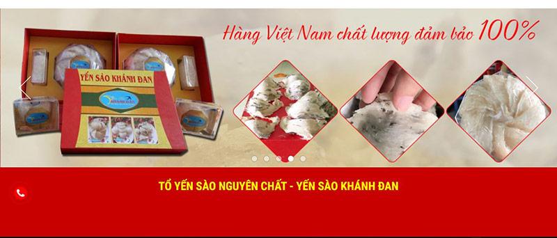 Yến sào Khánh Đan địa chỉ mua yến sào tại Vinh Nghệ An