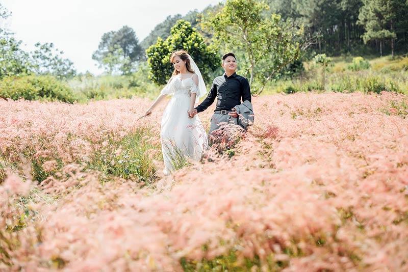Ảnh cưới tại studio ngoại cảnh Đà Lạt