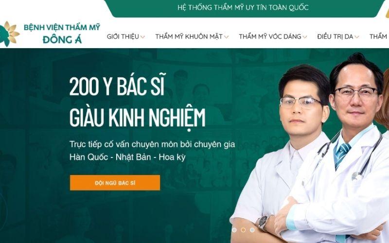 Hơn 200 bác sĩ giàu kinh nghiệm sẽ giúp bạn trở nên đẹp hơn tại Đông Á