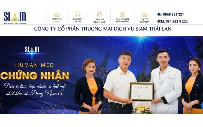 Siam nhận chứng nhận là một địa chỉ thực hiện phẫu thuật nhiều nhất khu vực ĐNA