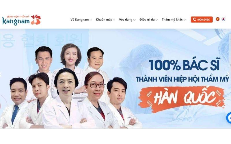 Bệnh viện thẩm mĩ Kangnam với 100% bác sĩ tới từ Hàn Quốc