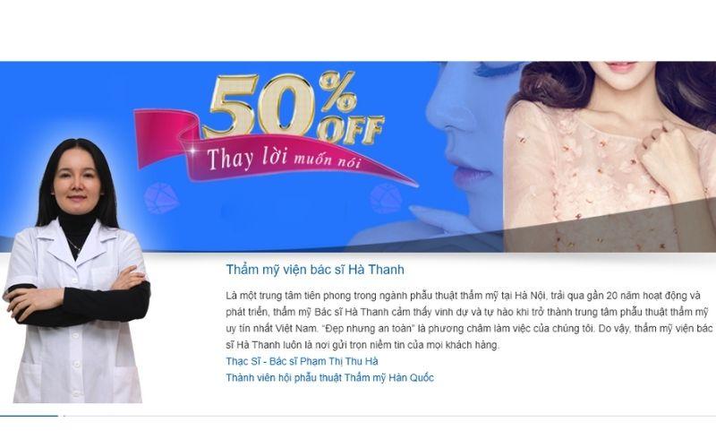 Thẩm mỹ viện Hà Thanh nhận được nhiều tin tưởng từ phía của khách hàng nhờ dịch vụ tốt