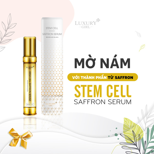 Serum trị nám của Luxury - Stem Cell – Saffron